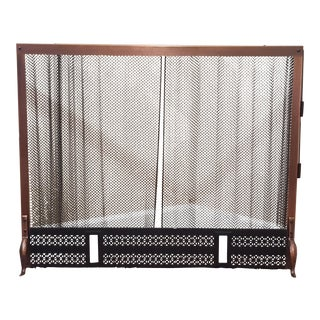 Mid-Century Modern Copper Fireplace Screen
