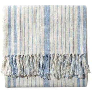 John Robshaw Cotton Glacier Striped Throw Blanket