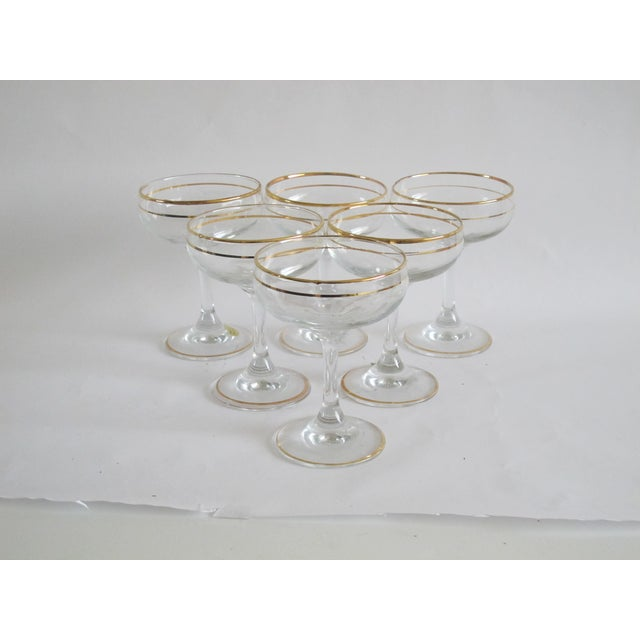 Italian Gilded Champagne Coupes - Set of 6 - Image 2 of 4