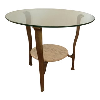 Mid-Century Italian Bronze and Marble Table