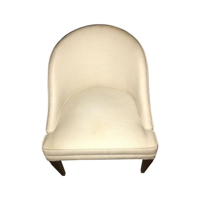 Modern Off White Linen Vanity Chair Chairish