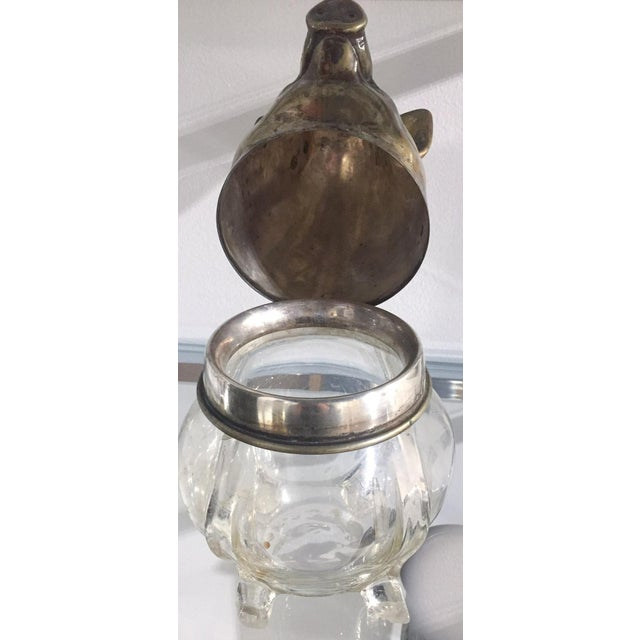 Vintage Glass and Brass Pig Head Jar - Image 7 of 10