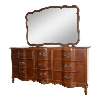 French Provincial Dresser with Mirror