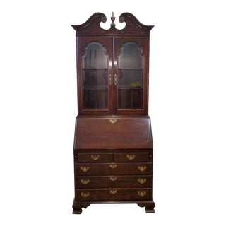Ethan Allen Cherry Georgian Court Secretary Desk