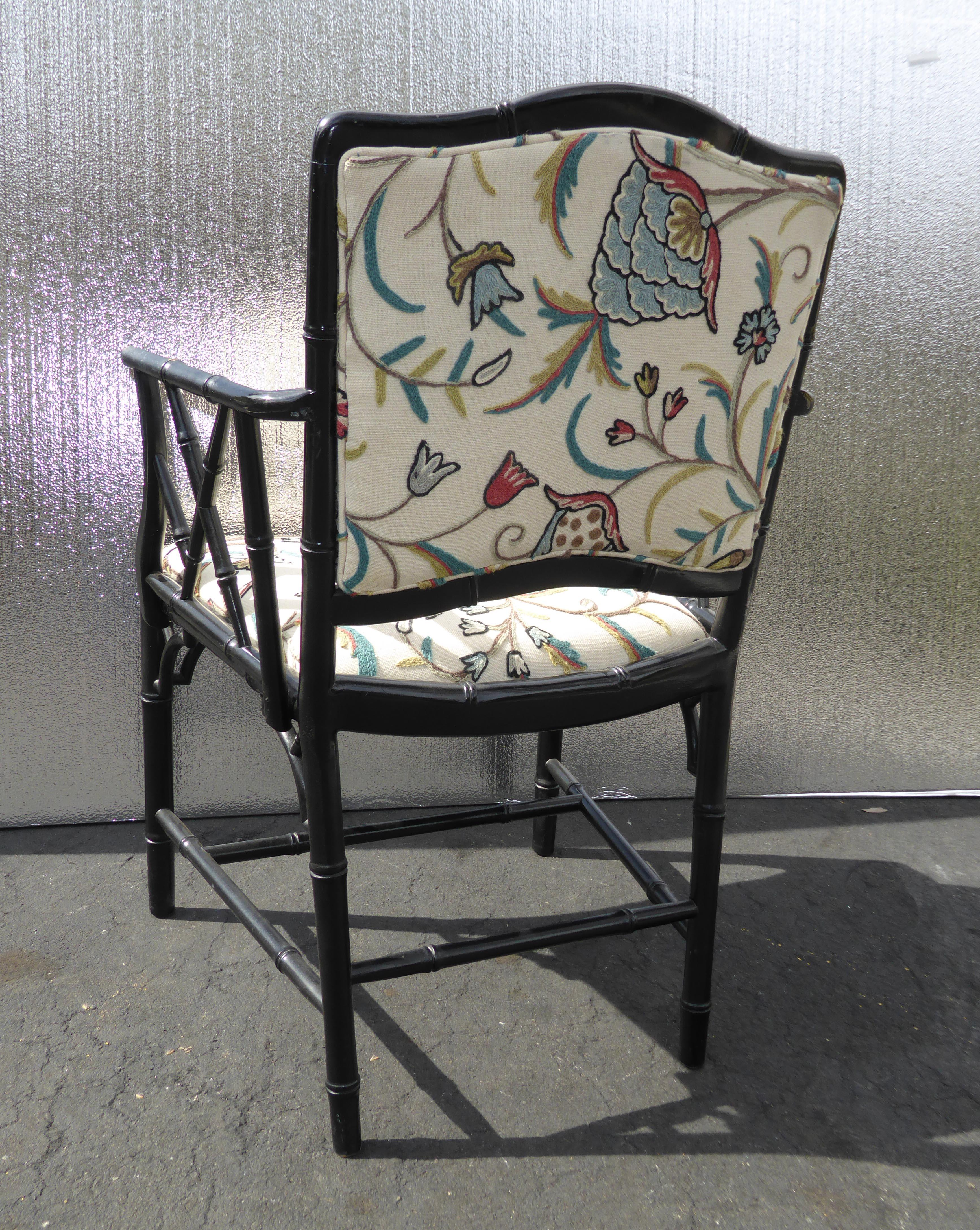 Vintage Asian Bamboo-Style Accent Chairs - A Pair | Chairish
