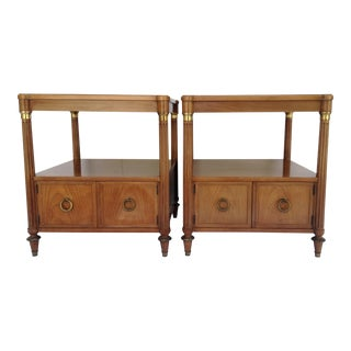 Baker Neoclassical Style End Tables - A Pair