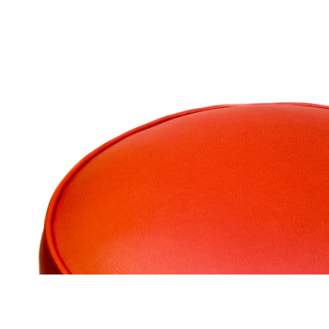 Image of Red Chrome Bar Stool