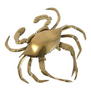 Vintage Brass Crab Figurine