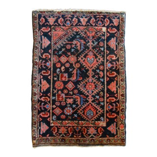 Antique Persian Malayer Accent Rug - 2' X 3'