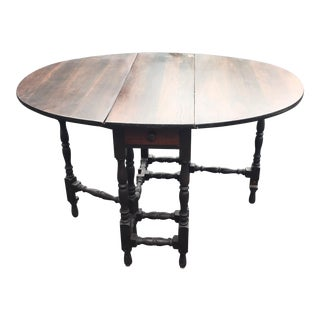 Antique English Gate Leg Drop Leaf Oval Table