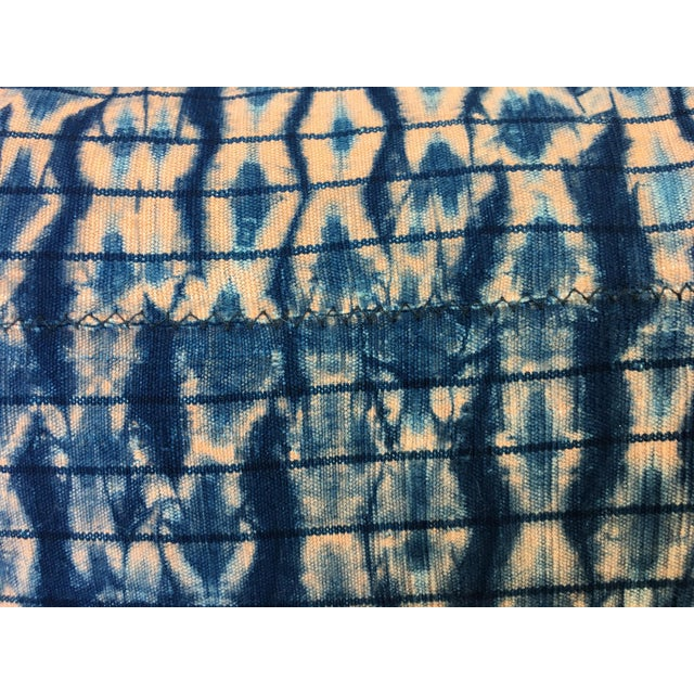 Vintage African Indigo Textile Pillows, S/2 - Image 5 of 6