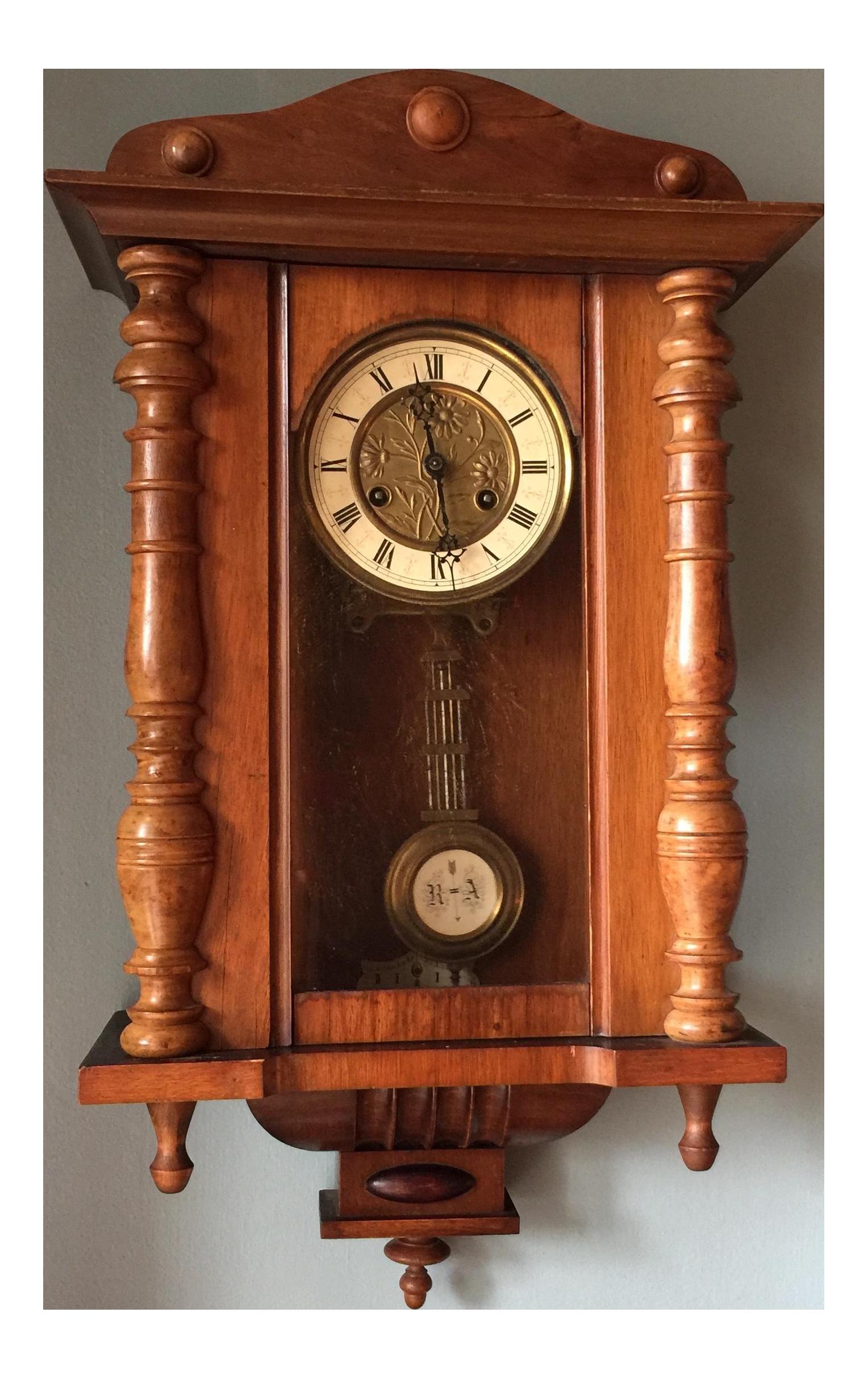 Antique German Wall Clock Chairish