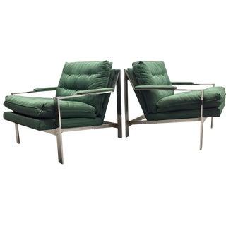 Cy Mann Chrome Lounge Chairs - A Pair