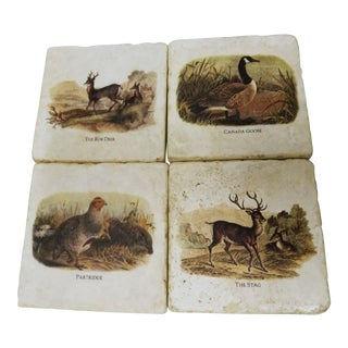 Italian Marble Coasters - Set of 4
