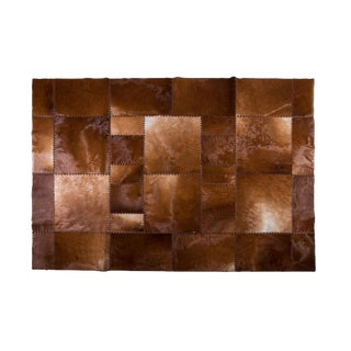 """Aydin Cowhide Patchwork Accent Area Rug - 6'7"""" x 8'2"""""""