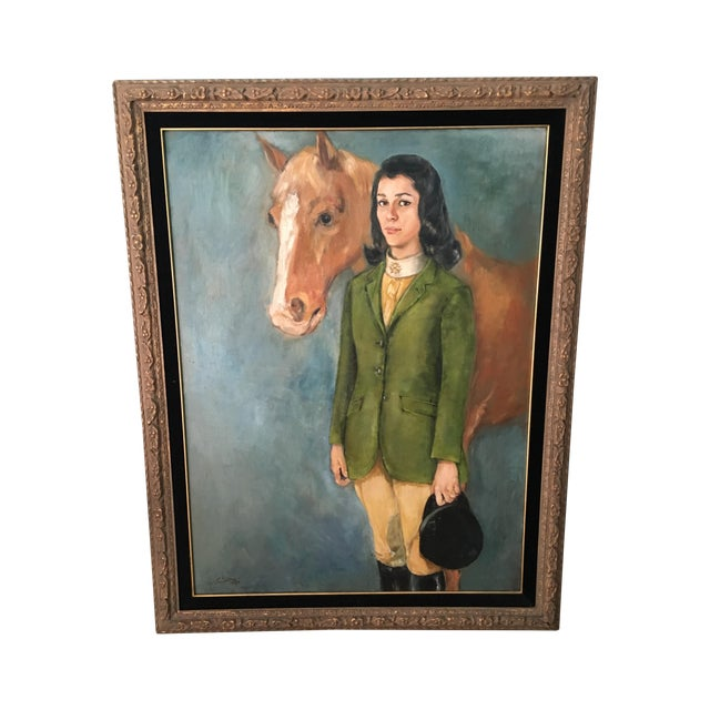 Equestrian Oil Painting - Image 1 of 6