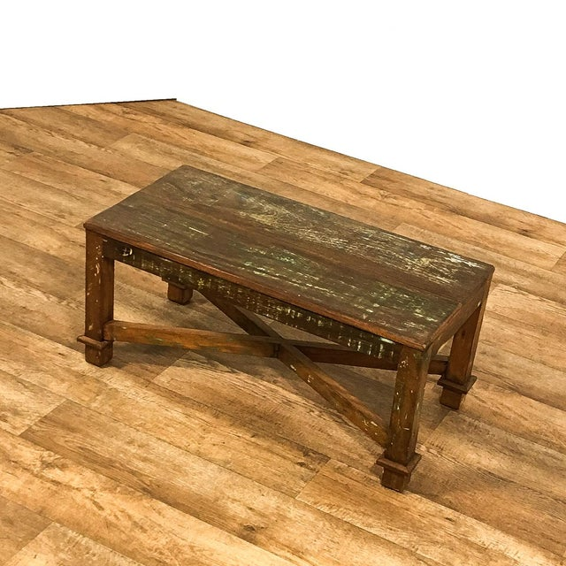 Reclaimed Wood Coffee Table Ireland: Antique Solid Wood Coffee Table