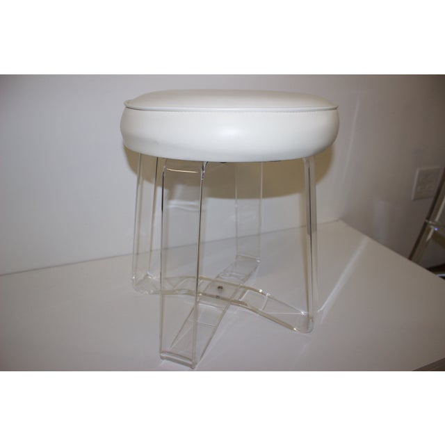 Image of Mid-Century Lucite Stool