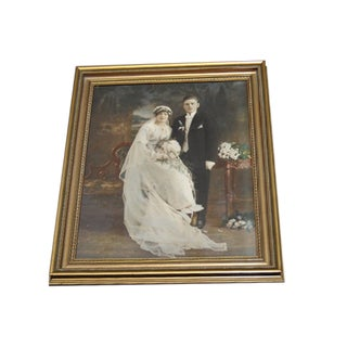Antique Hand Colored Wedding Portrait