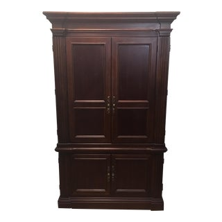 Baker Dark Wood Armoire Cabinet