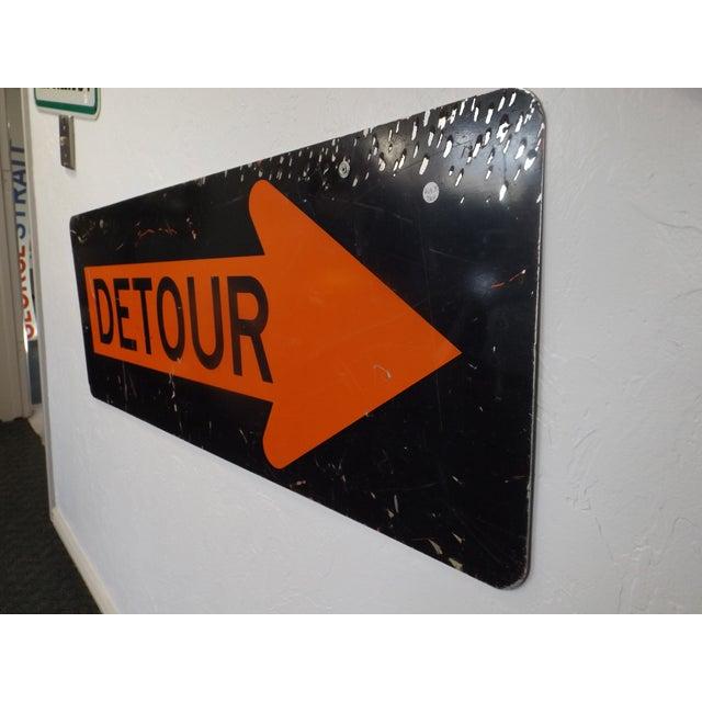 Vintage 'Detour' Sign - Image 4 of 5
