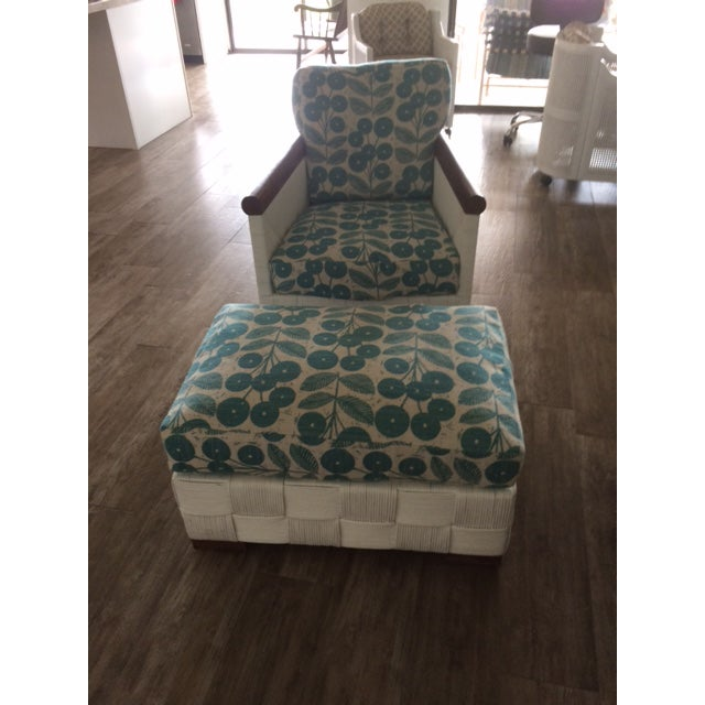 Donghia Block Island 2 Armchairs and Ottoman W/New Goose Down Pillows - Image 4 of 8