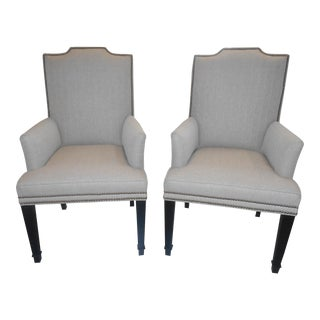 Vanguard Transitional Travis Arm Chairs - A Pair