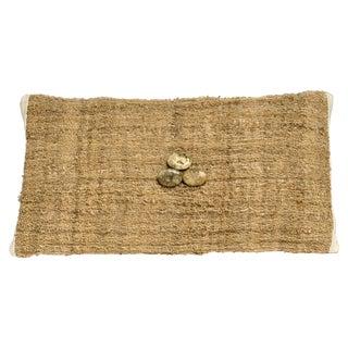 Tan Hand-Woven Pillow