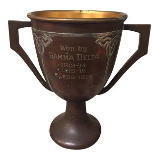Sterling Silver Overlay Bronze Trophy