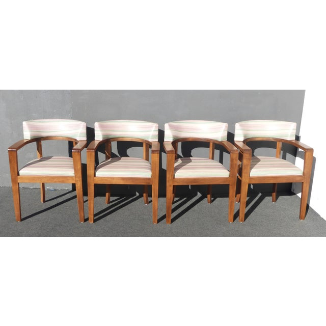 Mid-Century Danish Modern Leather Arm Chairs - 4 - Image 4 of 11
