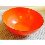 Image of Mid-Century Orange Enamel Bowl