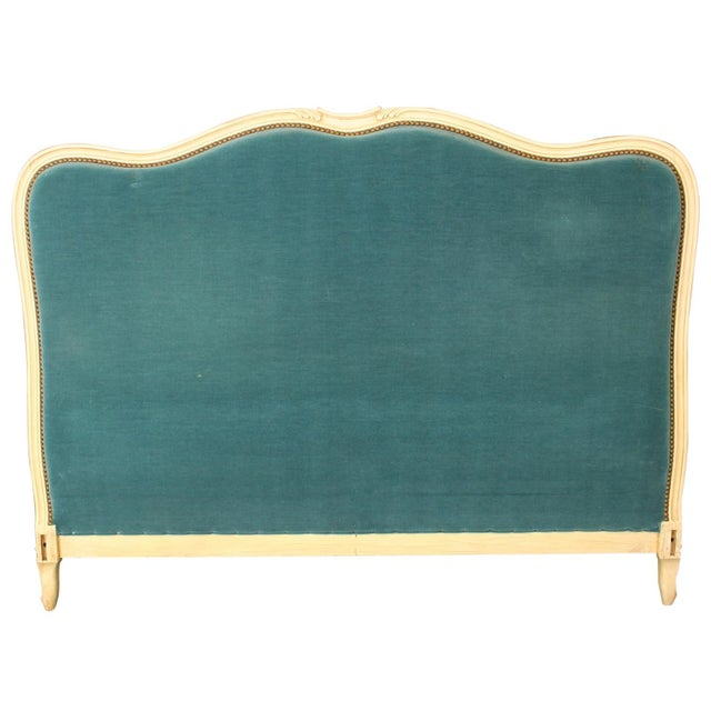 Image of Vintage French Louis XV Style Painted Wood Bed