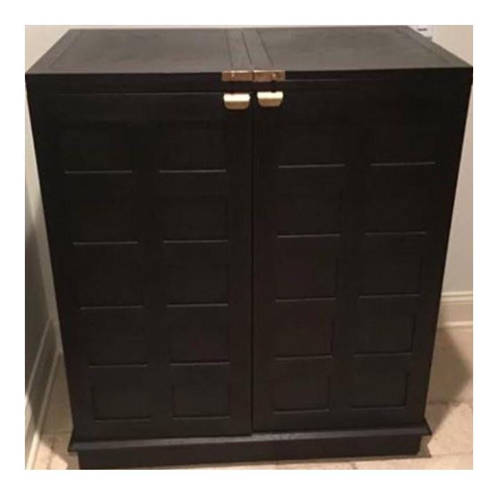 Crate U0026 Barrel Steamer Bar Cabinet