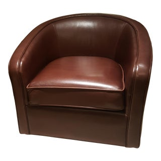 Room and Board Amos Leather Swivel Chair