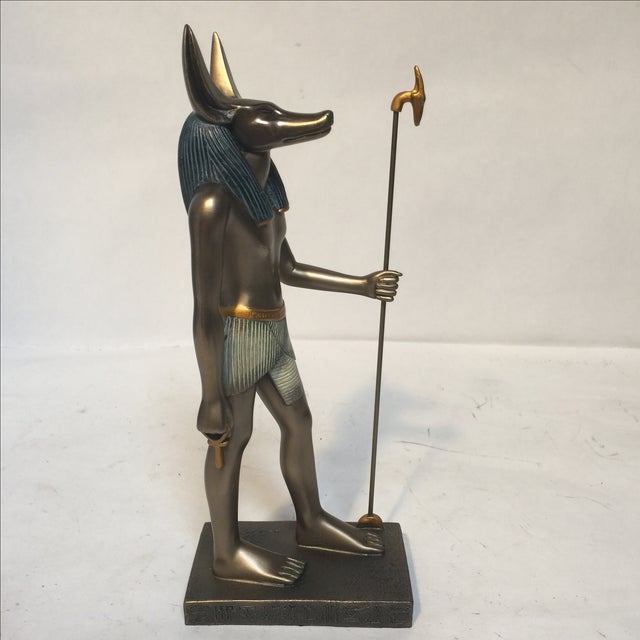 Egyptian Bronze Resin Sculpture - Image 4 of 8