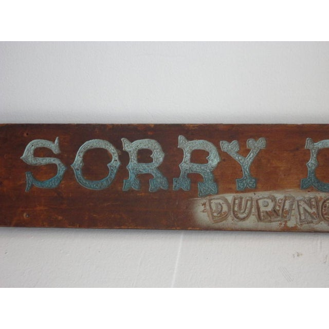 Image of Folky Original Painted Trade Sign, Early 20th Century