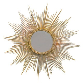 Gold Leaf Starburst Mirror