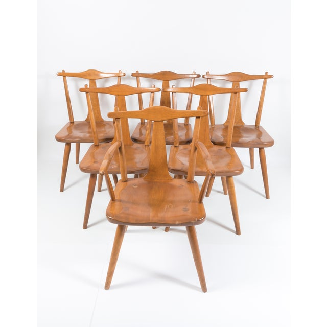 Cushman Mid-Century Colonial Dining Chairs - Set of 6 - Image 4 of 11