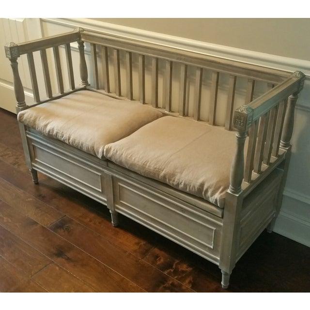 Image of Isabella Bleu Rustic Bench