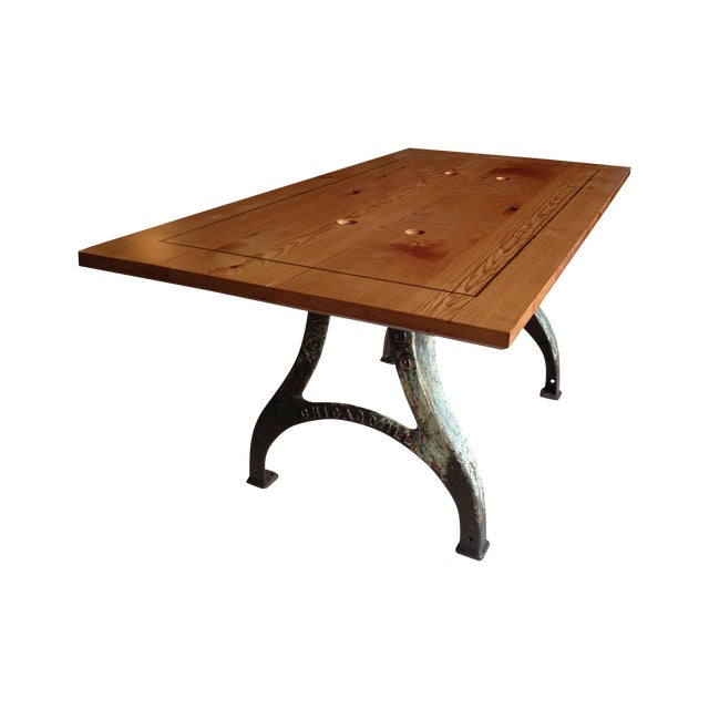 Modern Industrial Dining Table Sets: Modern Industrial Work/Dining Table
