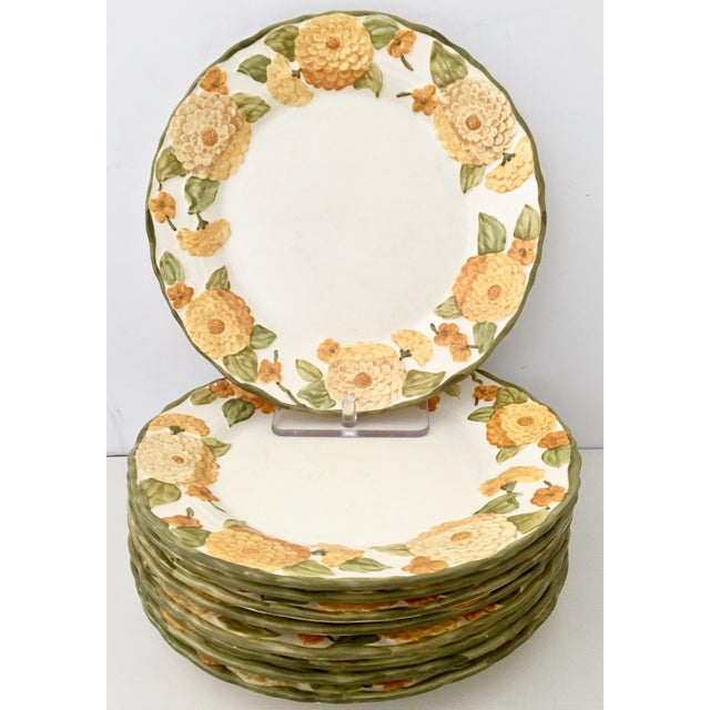 "1960s Ceramic Metlox ""Zinnia"" Dinnerware - Set of 22 - Image 3 of 7"