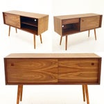 Image of Walnut Sliding Door Credenza