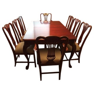 Traditional Fine Wood Dining Set