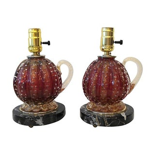 Barovier & Toso Glass Lamps - A Pair
