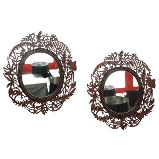 Fretwork Mirrors - A Pair