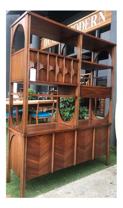 midcentury sculptural wall unit room divider