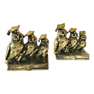Jennings Brothers Wise Owl Bookends - A Pair