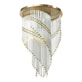 Czech Spiral Crystal Ceiling Fixture