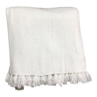 White Tassel Fringe Blanket