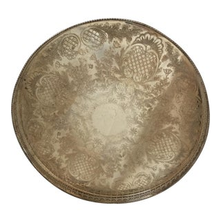 Viners of Sheffield Chased Silver Platter